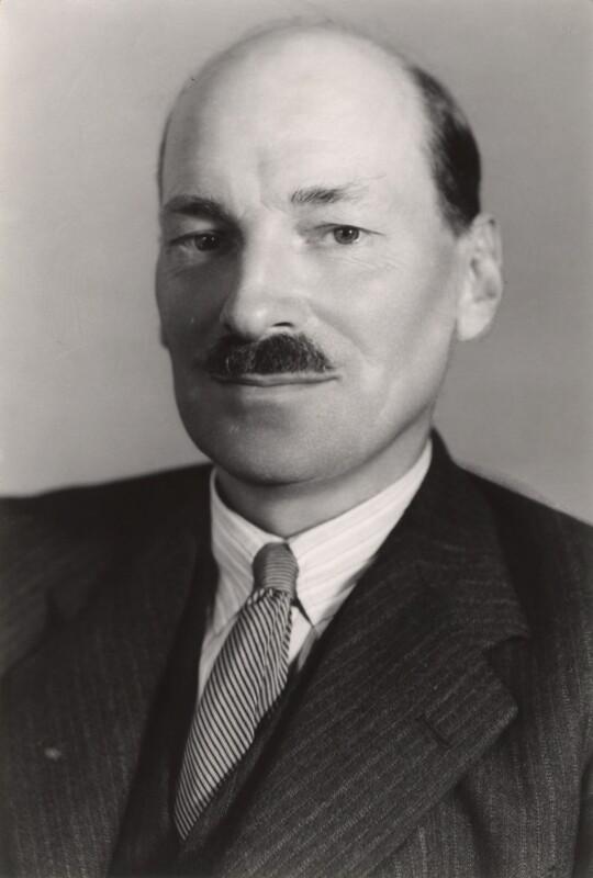 Clement Attlee, by Bassano Ltd, September 1938 - NPG x83556 - © National Portrait Gallery, London