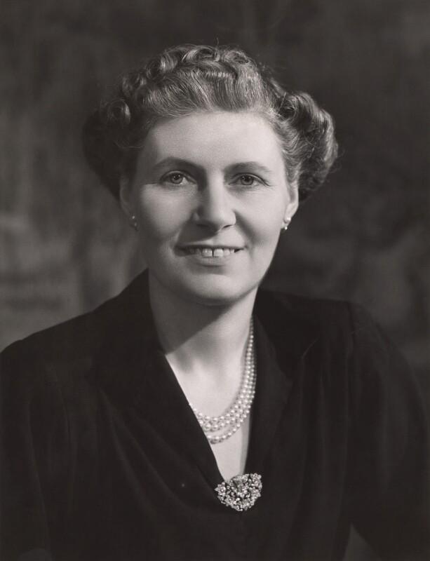 Violet Helen (née Millar), Countess Attlee, by Bassano Ltd, 1946 - NPG x83559 - © National Portrait Gallery, London