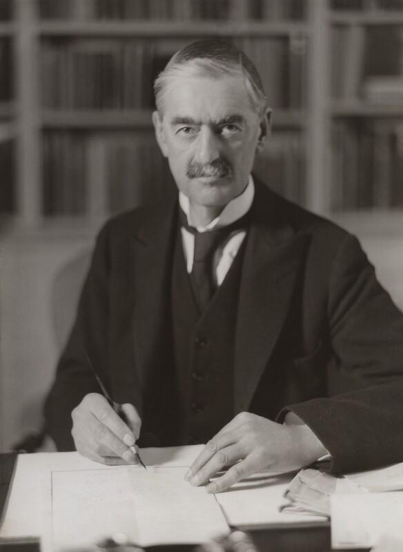 Neville Chamberlain, by Bassano Ltd, 3 February 1936 - NPG x83577 - © National Portrait Gallery, London