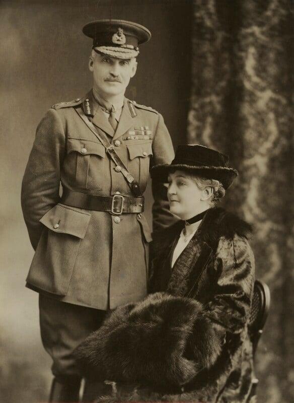 Henry Sinclair Horne, Baron Horne; Kate (née McCorquodale), Lady Horne, by Bassano Ltd, 31 December 1918 - NPG x83633 - © National Portrait Gallery, London