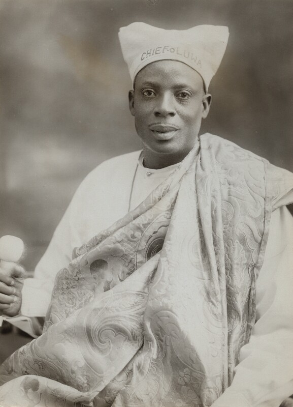 Amodu Tijani, Chief Oluwa of Lagos, by Bassano Ltd, 12 July 1920 - NPG x84007 - © National Portrait Gallery, London