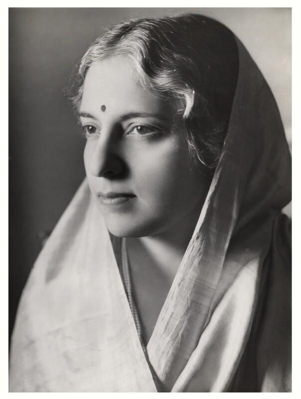 Vijaya Lakshmi Pandit (née Sarup Kumari Nehru), by Bassano Ltd, September 1938 - NPG x84424 - © National Portrait Gallery, London