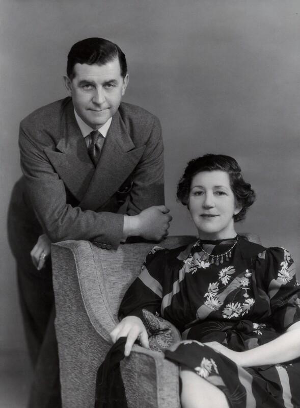 Valentine Williams; Alice Crawford, by Bassano Ltd, 22 May 1939 - NPG x85059 - © National Portrait Gallery, London