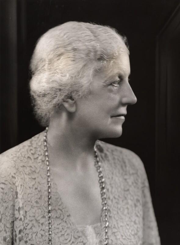 Lena Ashwell (née Lena Margaret Pocock, later Lady Simson), by Bassano Ltd, 24 July 1936 - NPG x85236 - © National Portrait Gallery, London