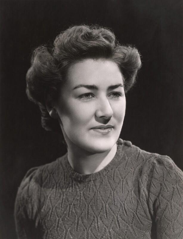 Madelaine Hope Aylward (née Woolley), by Bassano Ltd, 1946 - NPG x85275 - © National Portrait Gallery, London