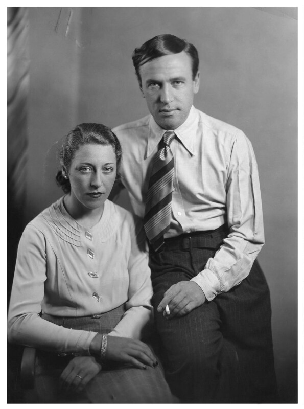 Amy Johnson; James Allan Mollison, by Bassano Ltd, May 1936 - NPG x85649 - © National Portrait Gallery, London