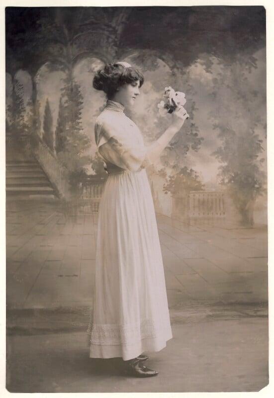 Mamie Whittaker, by Bassano Ltd, 1910 - NPG x85690 - © National Portrait Gallery, London