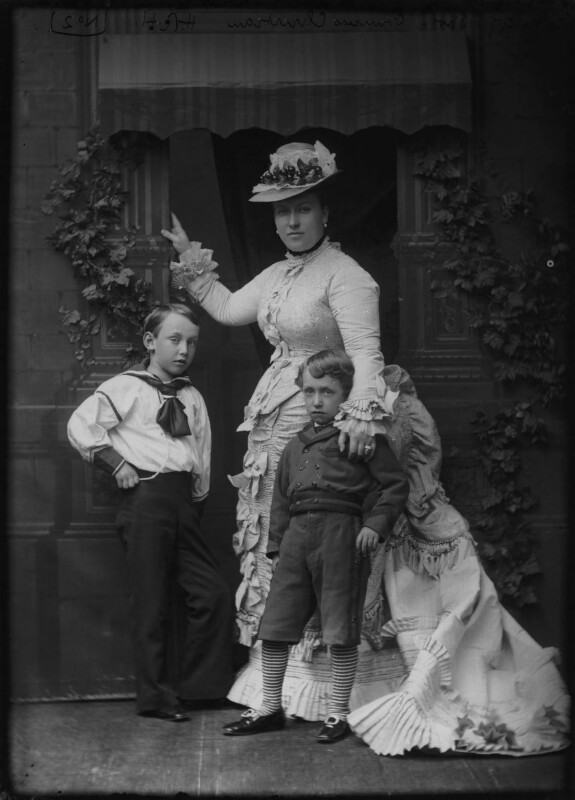 Princess Helena Augusta Victoria of Schleswig-Holstein with her two eldest children, by Alexander Bassano, mid 1870s - NPG x95876 - © National Portrait Gallery, London