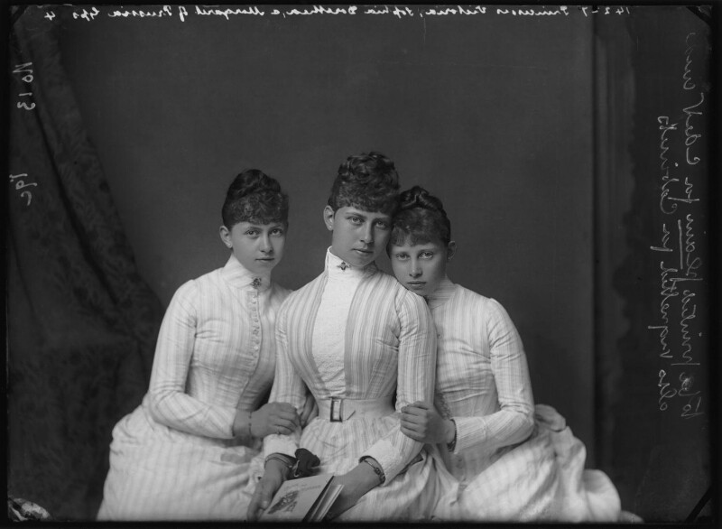Daughters of Frederick III, Emperor of Germany and Princess Victoria, by Alexander Bassano, circa 1887 - NPG x95908 - © National Portrait Gallery, London