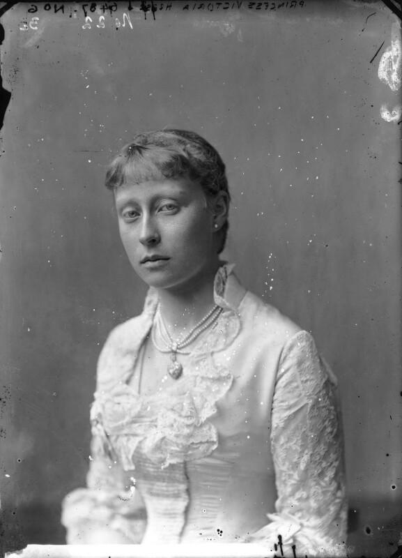 Princess Victoria Alberta Elisabeth Mathilde Marie (née Princess of Hesse), Marchioness of Milford-Haven, by Alexander Bassano, circa 1878 - NPG x95940 - © National Portrait Gallery, London