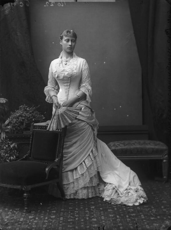 Princess Victoria Alberta Elisabeth Mathilde Marie (née Princess of Hesse), Marchioness of Milford-Haven, by Alexander Bassano, circa 1878 - NPG x95941 - © National Portrait Gallery, London