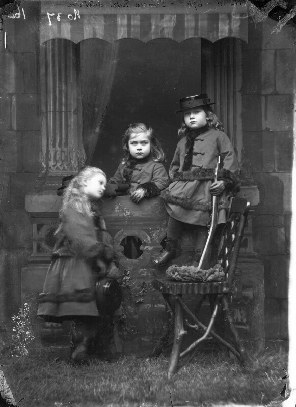 Queen Mary with two other children, by Alexander Bassano, 1872 - NPG x96008 - © National Portrait Gallery, London