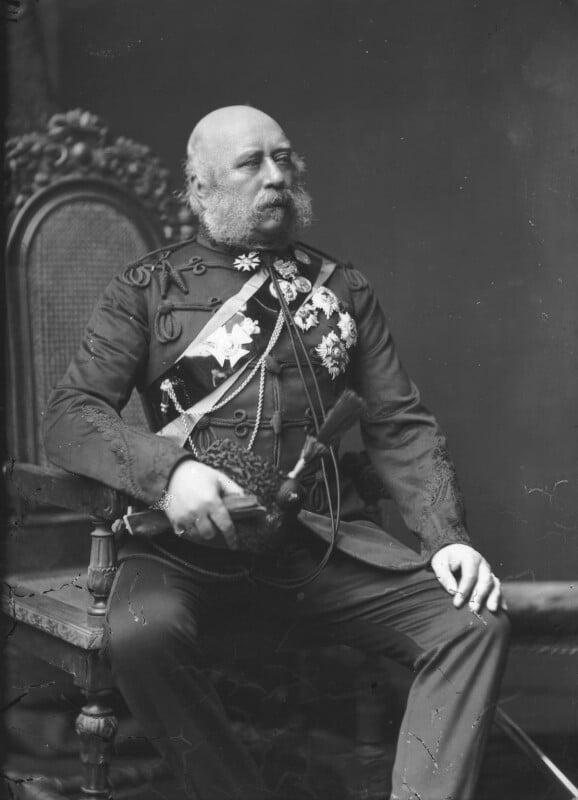 Prince George William Frederick Charles, 2nd Duke of Cambridge, by Alexander Bassano, circa 1889 - NPG x96059 - © National Portrait Gallery, London