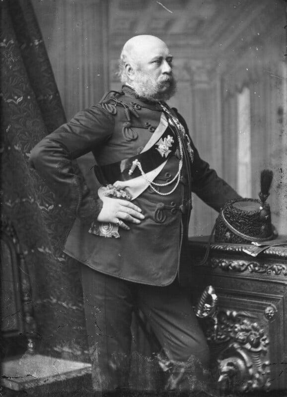 Prince George William Frederick Charles, 2nd Duke of Cambridge, by Alexander Bassano, circa 1889 - NPG x96060 - © National Portrait Gallery, London