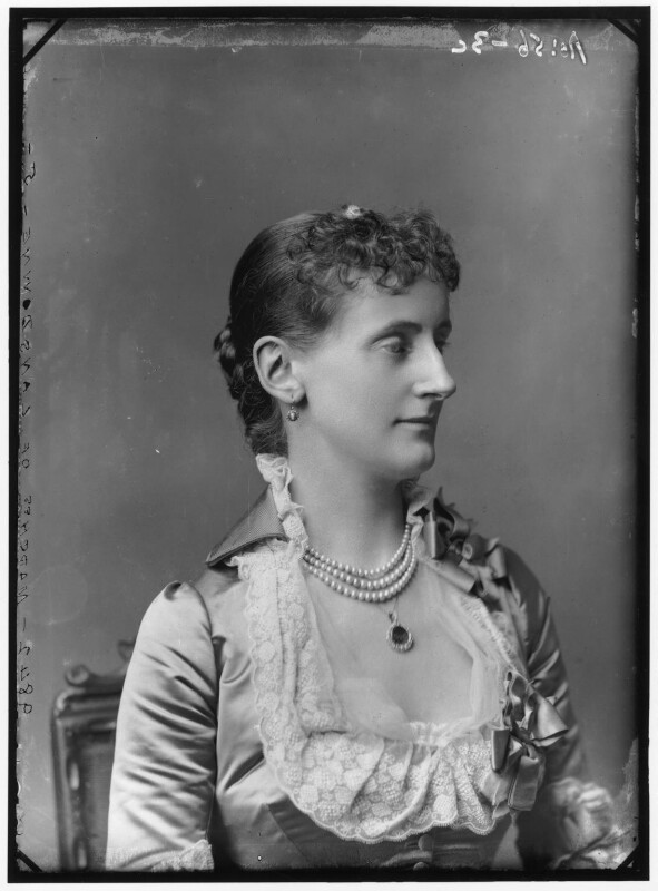 Maud Evelyn (née Hamilton), Marchioness of Lansdowne, by Alexander Bassano, 1883 - NPG x96087 - © National Portrait Gallery, London