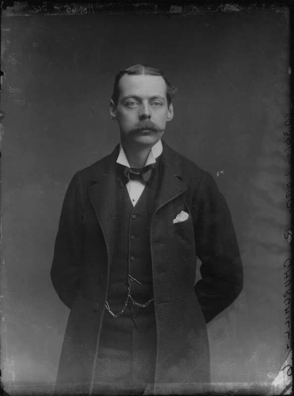 Lord Randolph Churchill, by Alexander Bassano, 1883 - NPG x96129 - © National Portrait Gallery, London