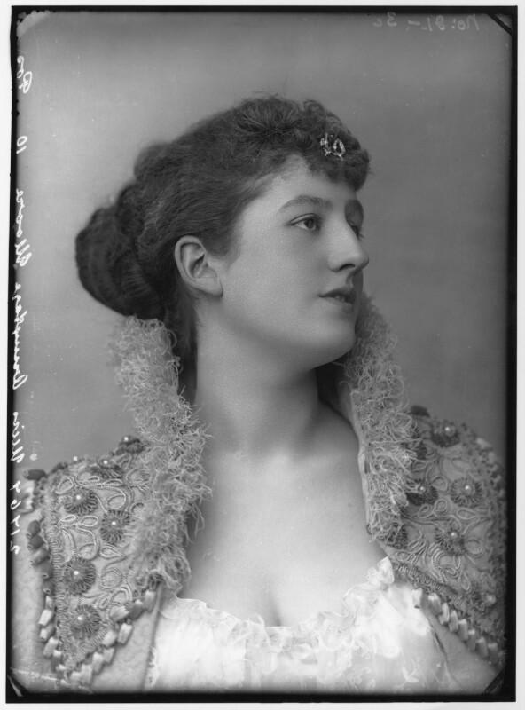Priscilla Cecilia (née Moore), Countess Annesley, by Alexander Bassano, circa 1891 - NPG x96208 - © National Portrait Gallery, London