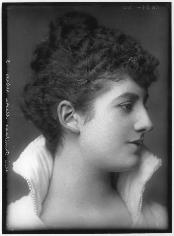Priscilla Cecilia (née Moore), Countess Annesley, by Alexander Bassano, circa 1891 - NPG x96209 - © National Portrait Gallery, London