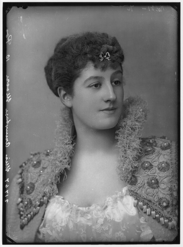 Priscilla Cecilia (née Moore), Countess Annesley, by Alexander Bassano, circa 1891 - NPG x96212 - © National Portrait Gallery, London