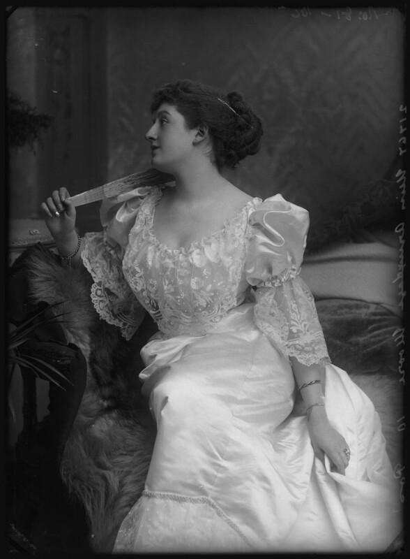 Priscilla Cecilia (née Moore), Countess Annesley, by Alexander Bassano, circa 1891 - NPG x96214 - © National Portrait Gallery, London