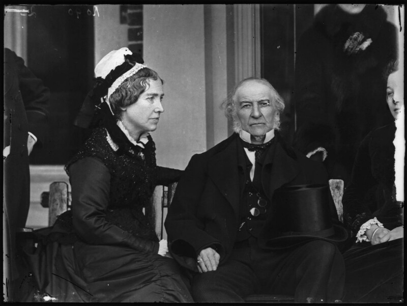 Catherine Gladstone (née Glynne); William Ewart Gladstone, by Alexander Bassano, 10 March 1883 - NPG x96225 - © National Portrait Gallery, London