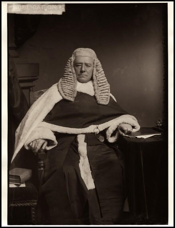 Henry Hawkins, Baron Brampton, by Alexander Bassano, 1882 - NPG x96246 - © National Portrait Gallery, London