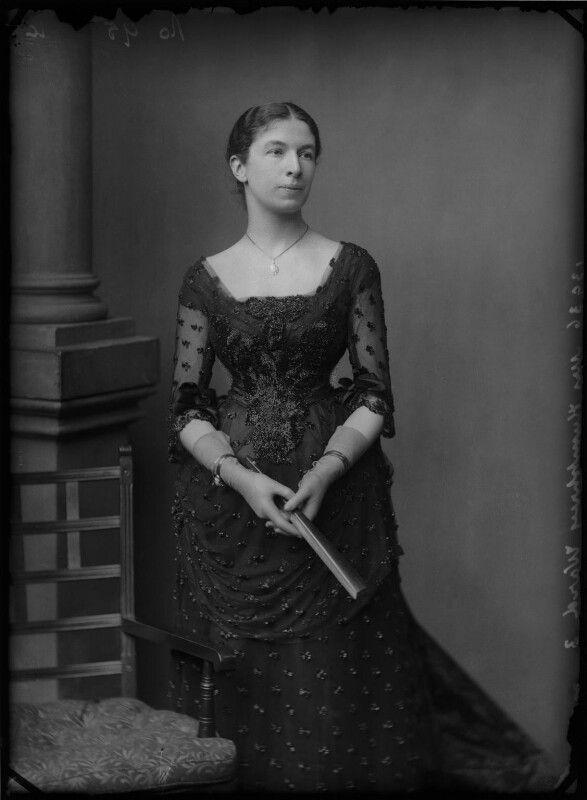 Mary Augusta Ward (née Arnold), by Alexander Bassano, circa 1886 - NPG x96254 - © National Portrait Gallery, London