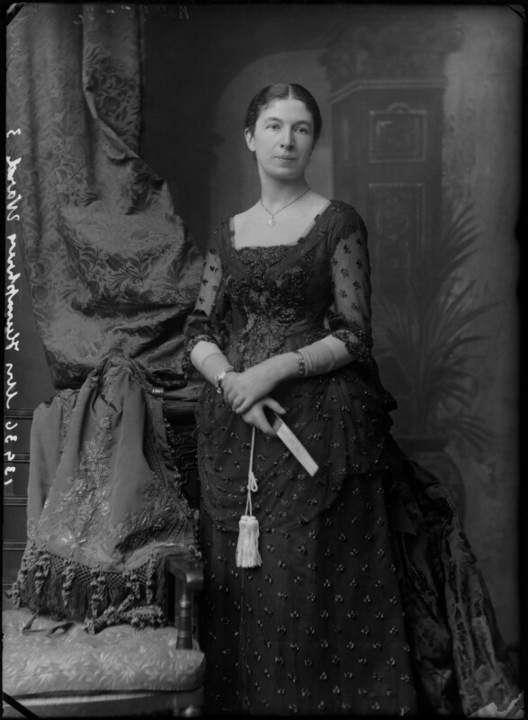 Mary Augusta Ward (née Arnold), by Alexander Bassano, circa 1886 - NPG x96256 - © National Portrait Gallery, London