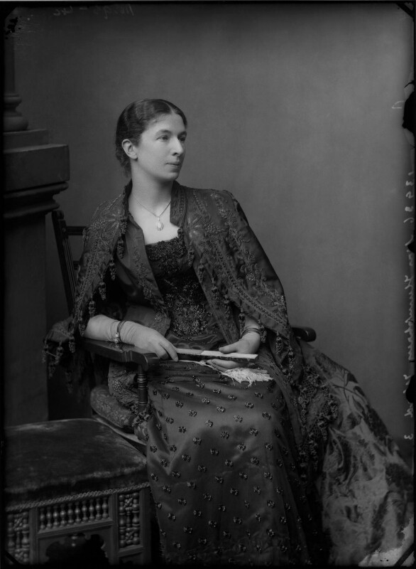 Mary Augusta Ward (née Arnold), by Alexander Bassano, circa 1886 - NPG x96257 - © National Portrait Gallery, London