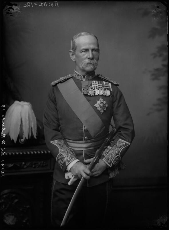 Frederick Sleigh Roberts, 1st Earl Roberts, by Alexander Bassano, 1891-1892 - NPG x96278 - © National Portrait Gallery, London