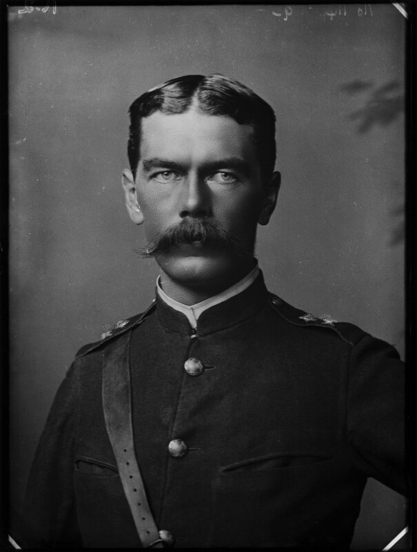 Herbert Kitchener, 1st Earl Kitchener, by Alexander Bassano, 1885 - NPG x96292 - © National Portrait Gallery, London