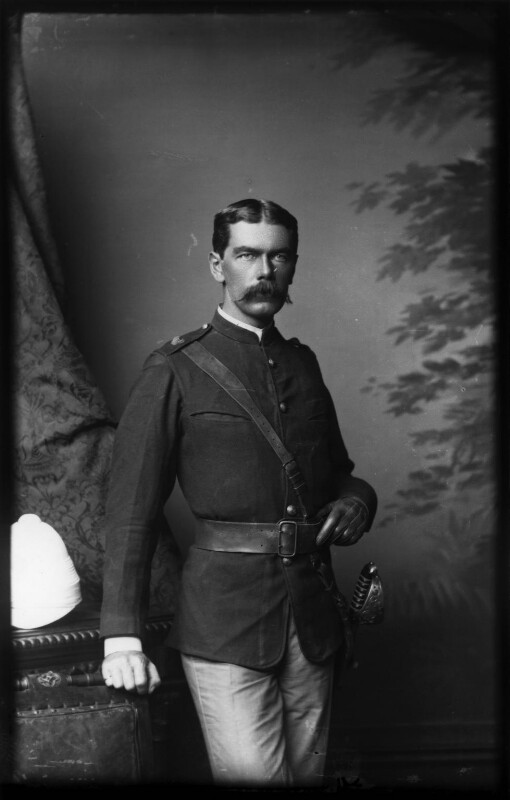 Herbert Kitchener, 1st Earl Kitchener, by Alexander Bassano, 1885 - NPG x96301 - © National Portrait Gallery, London