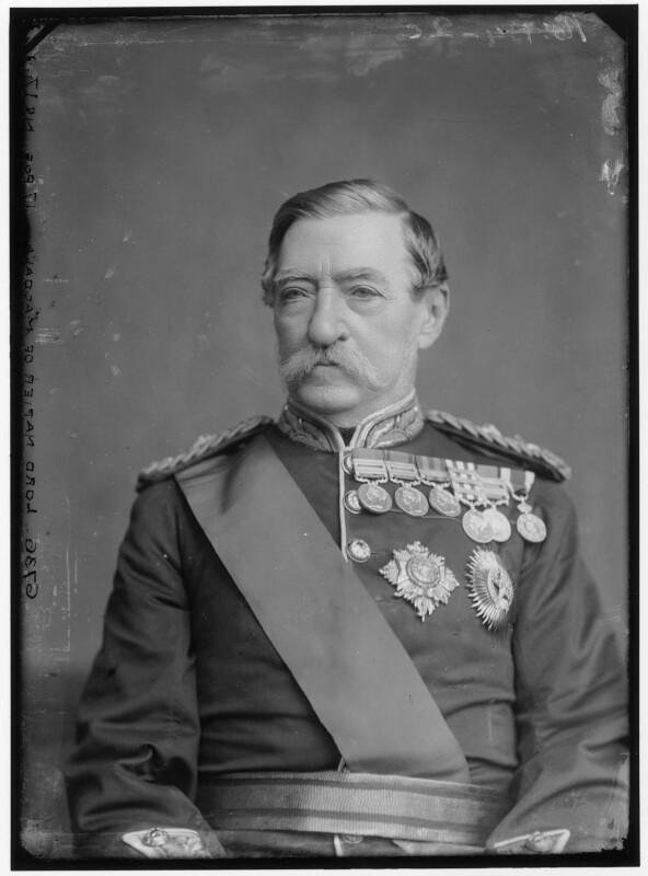 Robert Cornelis Napier, 1st Baron Napier of Magdala, by Alexander Bassano, 1881? - NPG x96398 - © National Portrait Gallery, London