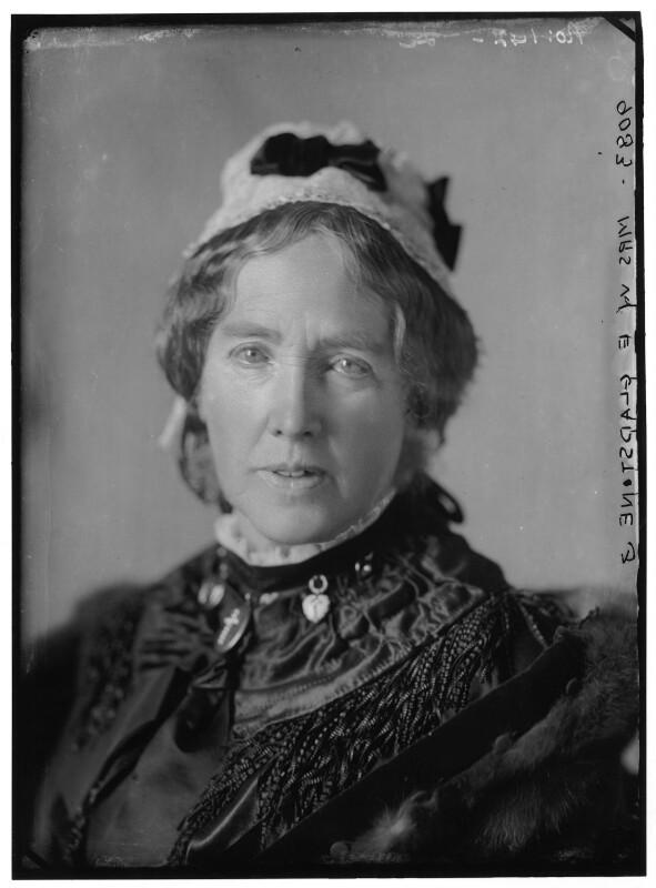 Catherine Gladstone (née Glynne), by Alexander Bassano, 10 March 1883 - NPG x96404 - © National Portrait Gallery, London