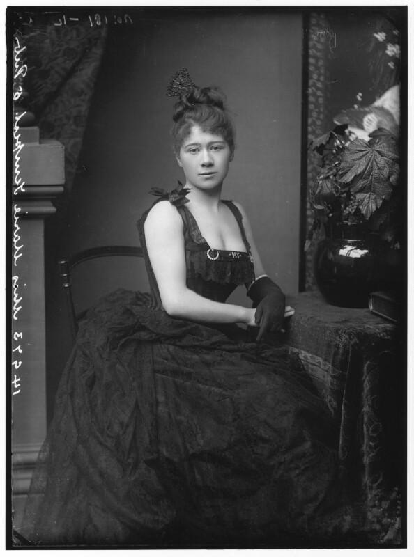 Marie Tempest, by Alexander Bassano, 1884 - NPG x96496 - © National Portrait Gallery, London