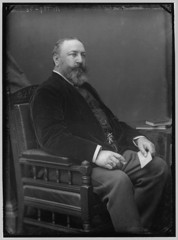 Count Gleichen (Prince Victor of Hohenlohe-Langenburg), by Alexander Bassano, circa 1880s - NPG x96531 - © National Portrait Gallery, London