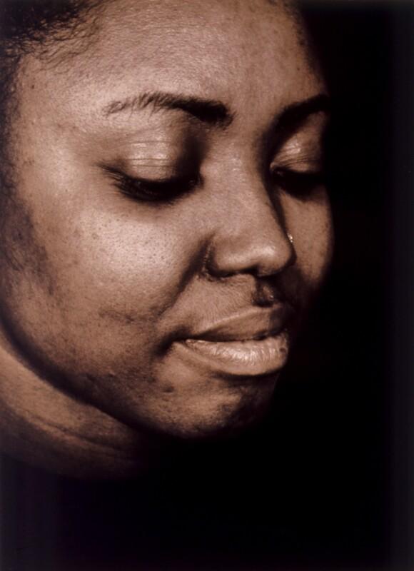 Denise Everett, by Donald MacLellan, 26 February 1997 - NPG x88742 - © Donald MacLellan