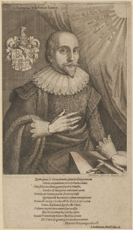 Robert Fludd, by Matthäus Merian the Elder, published 1626 - NPG D11021 - © National Portrait Gallery, London