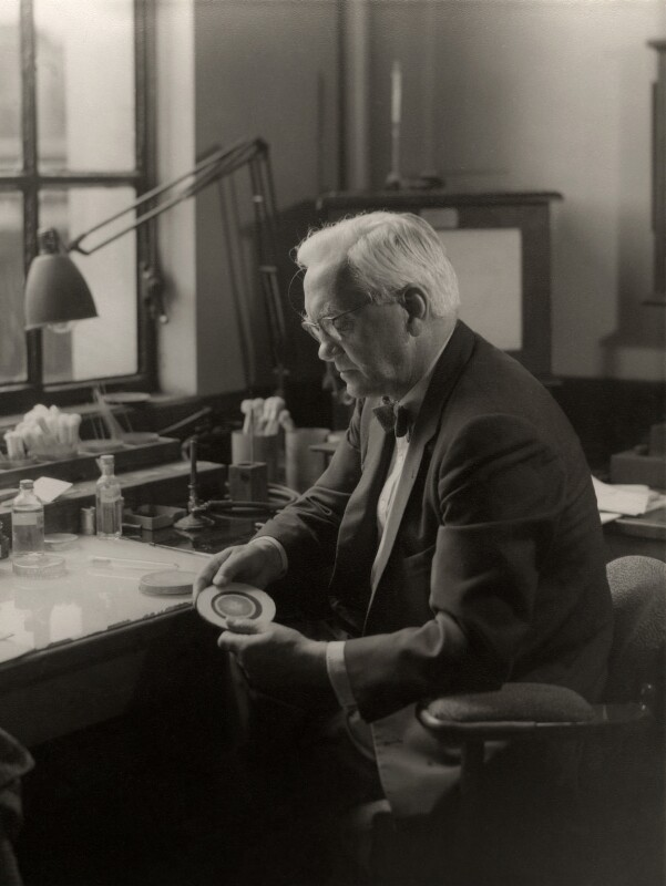 Alexander Fleming, by Howard Coster, 1954 - NPG x1834 - © National Portrait Gallery, London