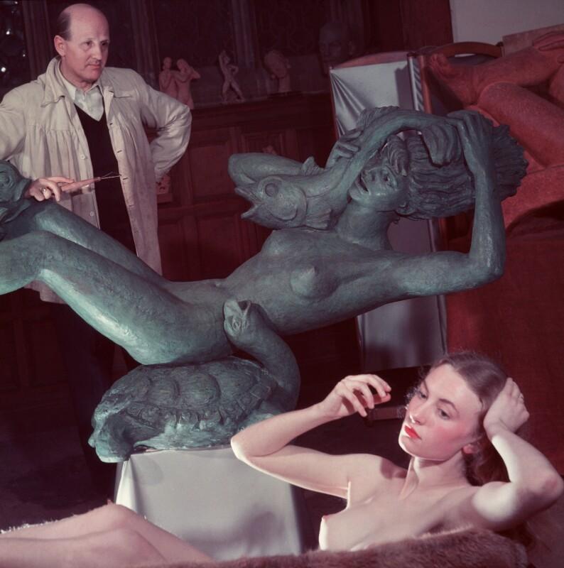 Arthur Fleischmann; Joyce Odiase (née Taylor), by (Edward) Russell Westwood, 1948 - NPG x68257 - © estate of Russell Westwood / National Portrait Gallery, London