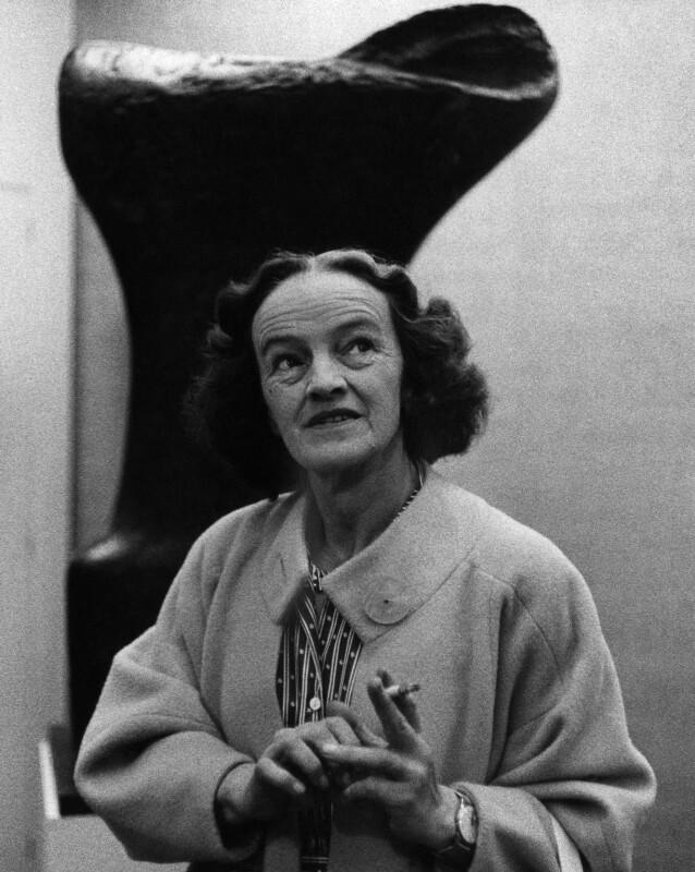 Barbara Hepworth, by Peter Keen, late 1950s - NPG x88862 - © estate of Peter Keen / National Portrait Gallery, London