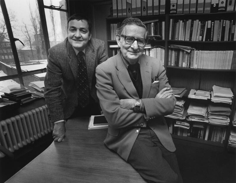 Michael William Eysenck; Hans Jürgen Eysenck, by Anne-Katrin Purkiss, February 1991 - NPG x36183 - © National Portrait Gallery, London