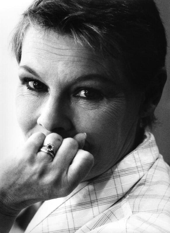 Judi Dench, by Gemma Levine, 1986 - NPG x88869 - © Gemma Levine