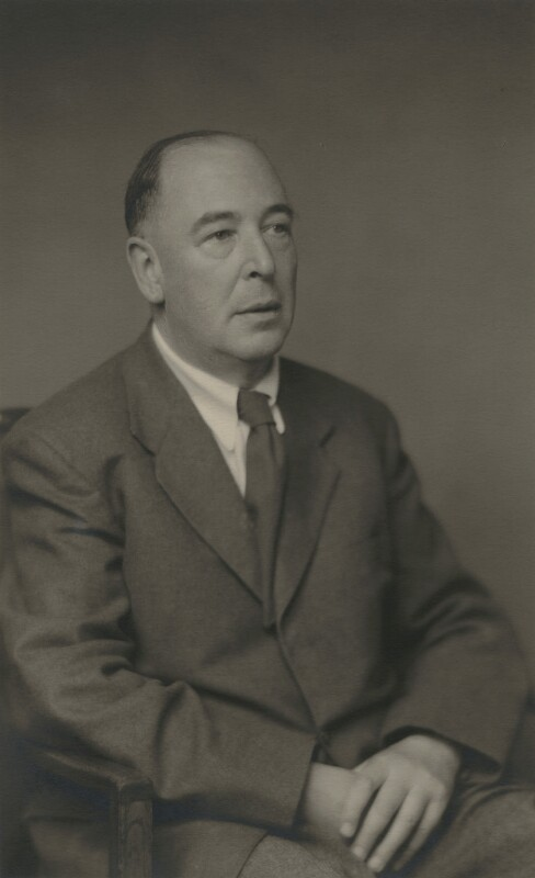 C.S. Lewis, by Walter Stoneman, 1955 - NPG x45075 - © National Portrait Gallery, London