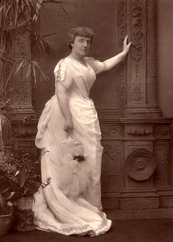 Frances Hodgson Burnett, by Herbert Rose Barraud, published 1888 - NPG x5179 - © National Portrait Gallery, London