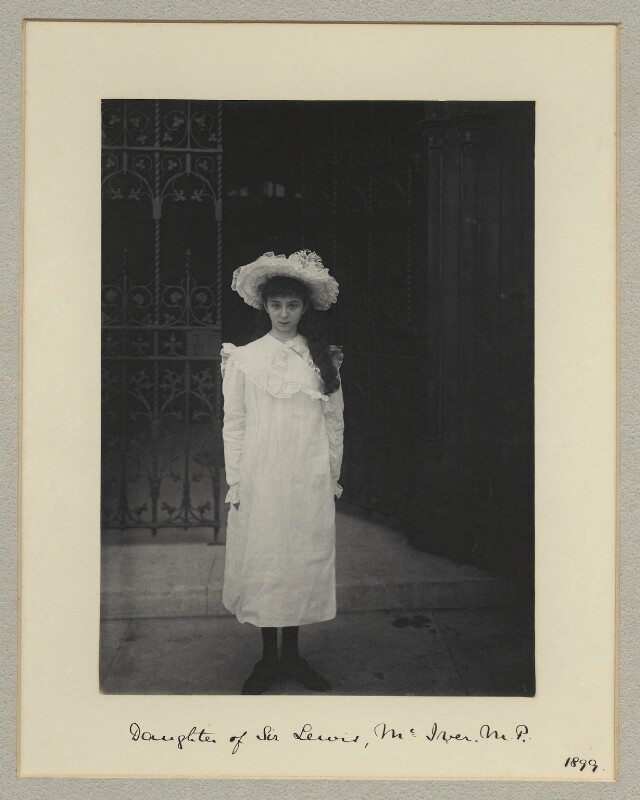 Marjorie Barabel Ruth Philips (née McIver), by Benjamin Stone, July 1899 - NPG x44865 - © National Portrait Gallery, London