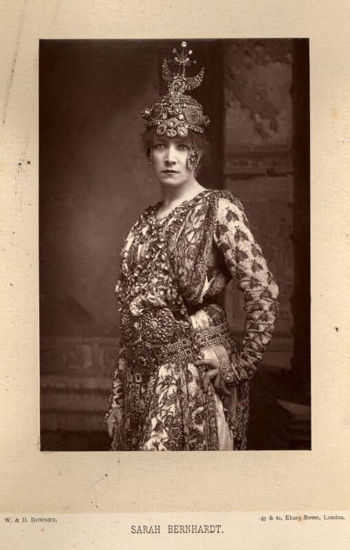 Sarah Bernhardt as Théodora in Sardou's play 'Théodora', by W. & D. Downey, published by  Cassell & Company, Ltd, published 1890 - NPG x5682 - © National Portrait Gallery, London