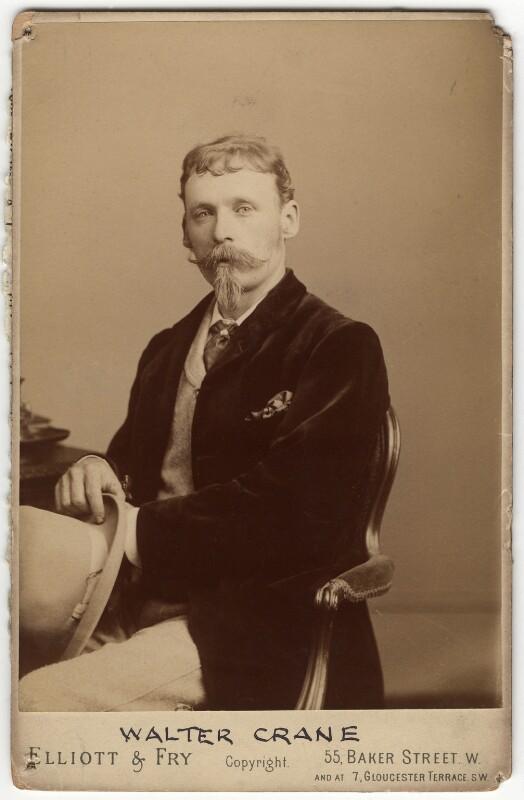 Walter Crane, by Elliott & Fry, circa 1875 - NPG x7002 - © National Portrait Gallery, London