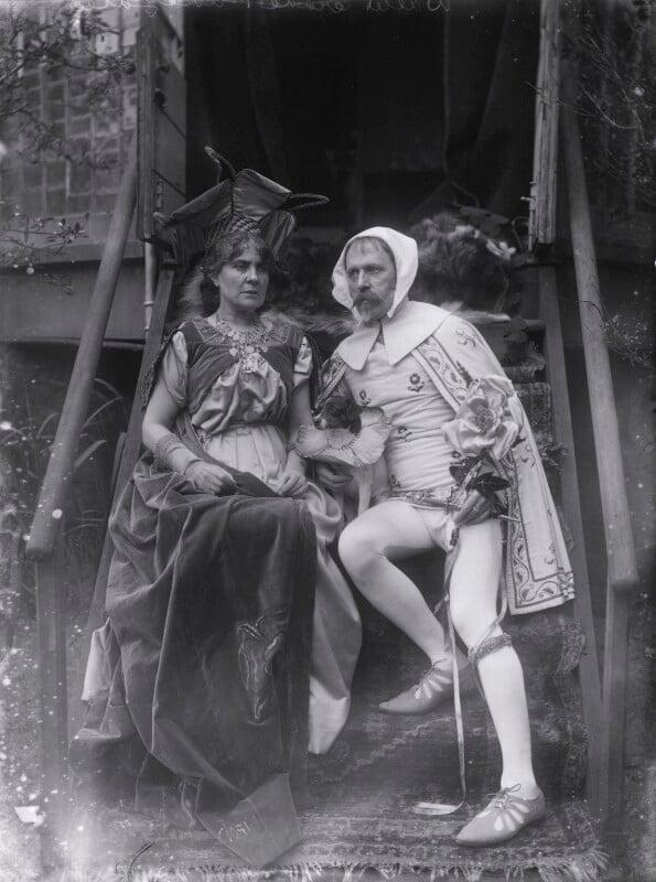 Mary Frances Crane (née Andrews) as Laura; Walter Crane as Cimabue, by Sir Emery Walker, 1897? - NPG x19680 - © National Portrait Gallery, London