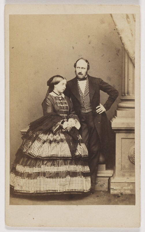 Queen Victoria; Prince Albert of Saxe-Coburg-Gotha, by John Jabez Edwin Mayall, February 1861 - NPG x26101 - © National Portrait Gallery, London